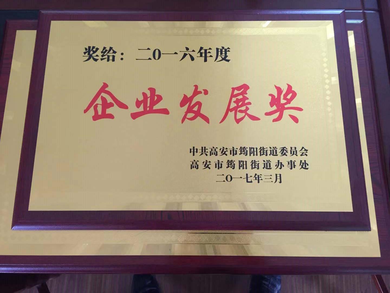 2016年度企业发展奖